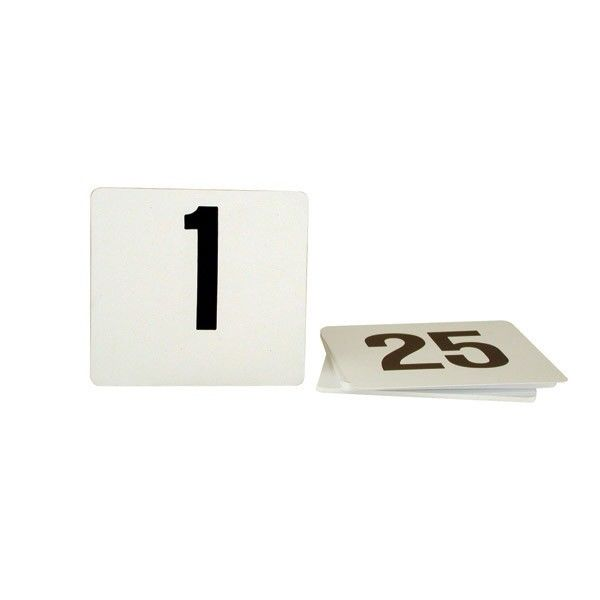 KH Table Numbers Plastic Black On White