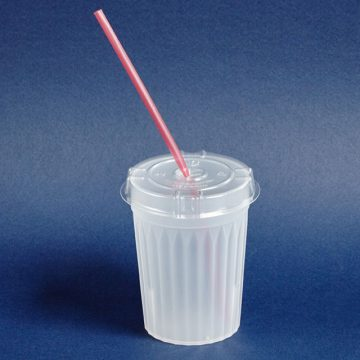 Disposable Lid For Tumbler Straw Slot