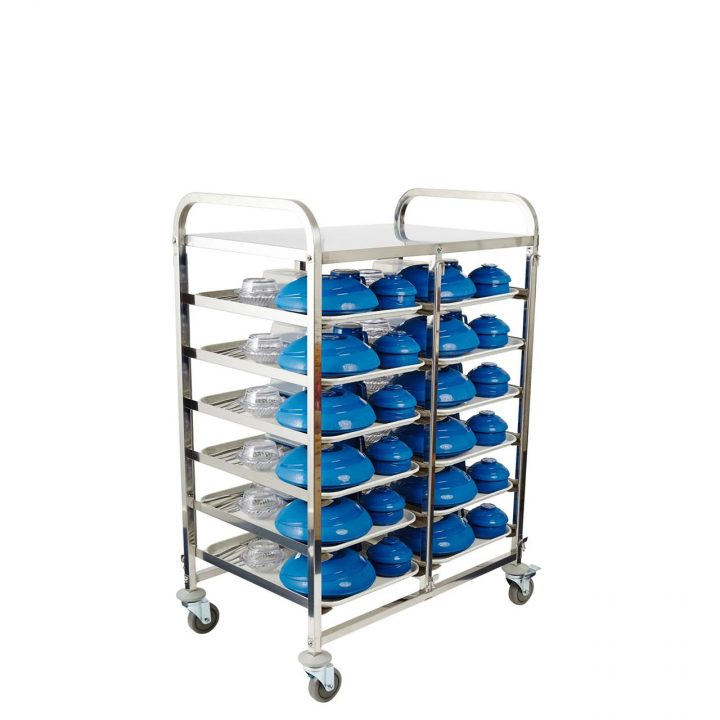 Healthcare Meal Delivery Trolley 6 Tier
