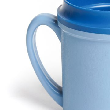 KH Traditional Insulated Mug Single Handle Blue