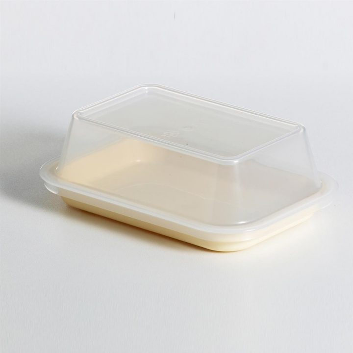 KH Tray Rectangular Yellow With Lid To Suit