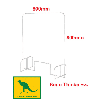 Acrylic Sneeze Guard 800 x 800mm 6mm Thick